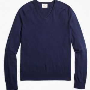 346 Brooks Brothers Navy Cotton/Cashmere Sweater